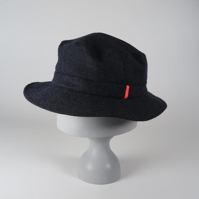 AW19HA-1 Wool Herringbone Hat BBK/OPK