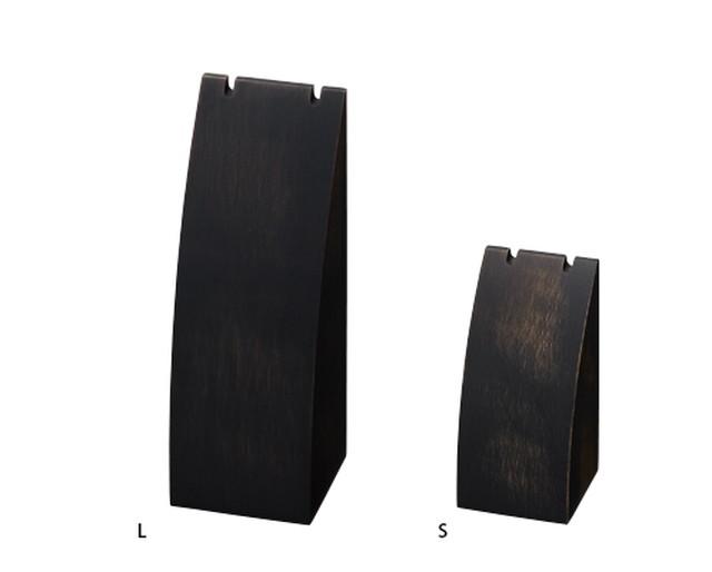 ネックレススタンドLサイズ木製塗装 アンティーク調ブラック AR-1941AT-L