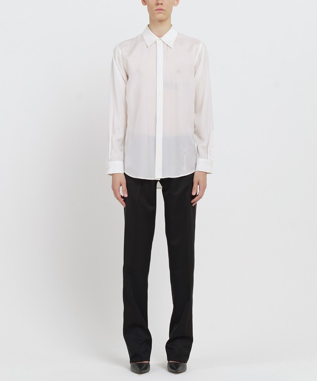White Double Buttonhole Cupro Shirt