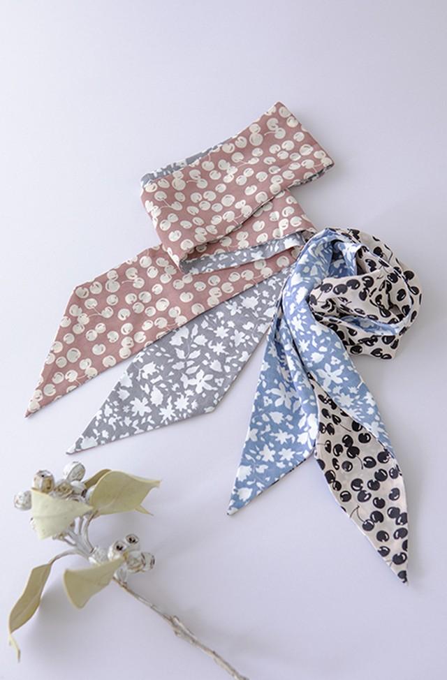 【ノベルティ】Cherry&Floral Scarf Ribbon
