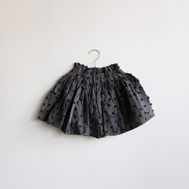 《frankygrow 2020SS》BONBON CUT JQ SWITCHING SKIRT / gray × black bonbon / LL