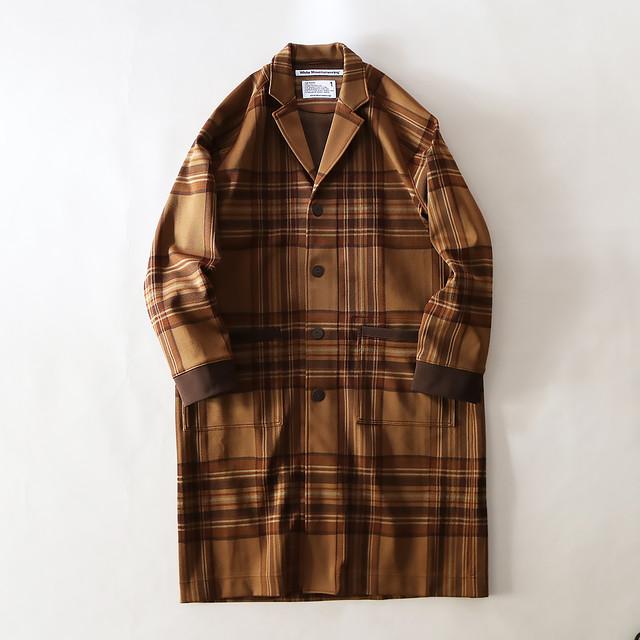 ORIGINAL JACQUARD CHECK LONGCOAT - BROWN
