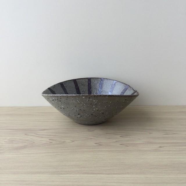 【波佐見焼】絵唐津荒土十草 楕円型小鉢