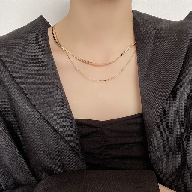 【小物】輝いて超人気 高級感 シンプル サークル 鎖骨チェーン ネックレス45279337