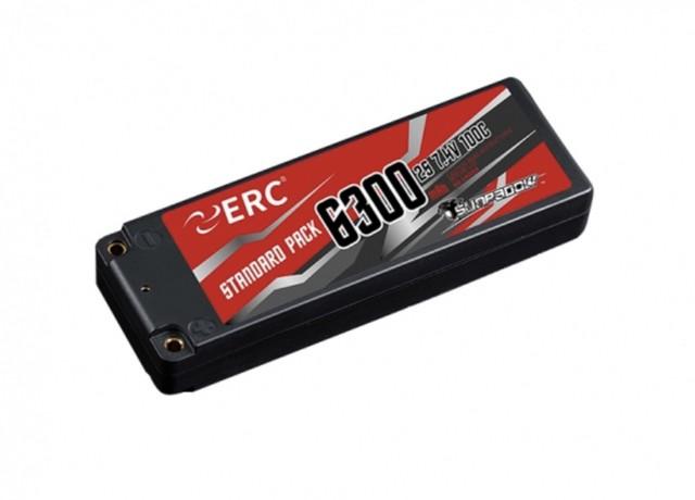SUNPADOW 7.4V / 6300mAh / 100C ERC リポバッテリー
