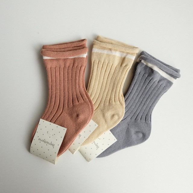 20%OFF benebene LINING SOCKS(全3色/24M〜8Tサイズ)