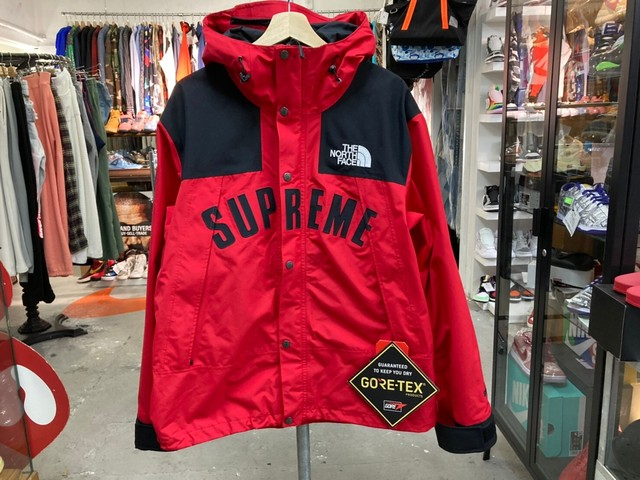 Supreme 19SS × THE NORTH FACE ARC LOGO MOUNTAIN PARKA LARGE RED 400KF677