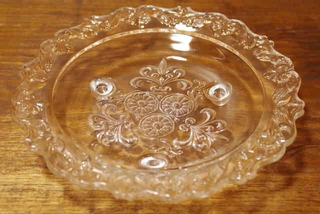 モダン 北欧風? アンバーガラス 飴色 大きなサラダボウル 25センチ ガラス食器 昭和レトロ 古道具