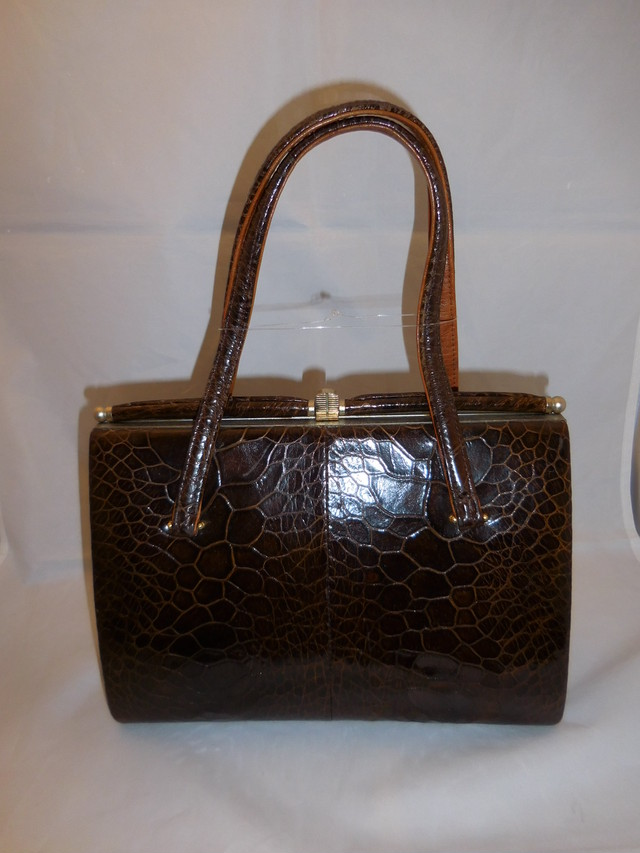 茶色亀のビィンテージバック brown turtle vintage bag (made in Japan)