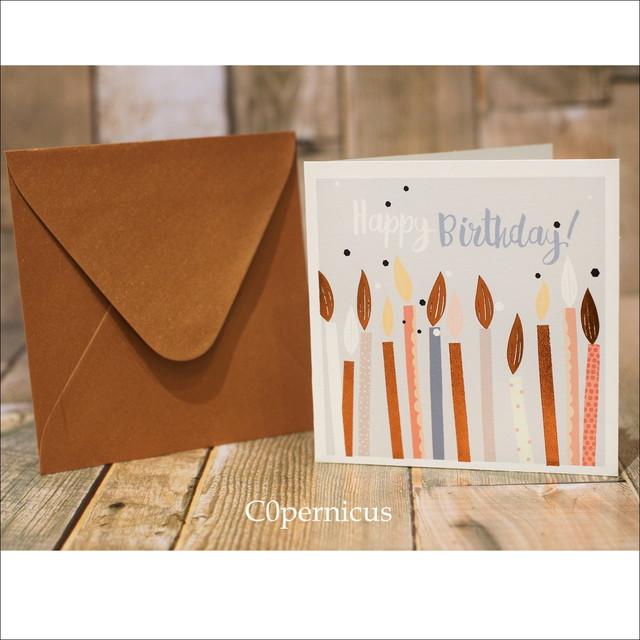グリーティングカード/HappyBirthday/誕生日メッセージカード/0453 浜松雑貨屋 C0pernicus  便箋・封筒レターセット