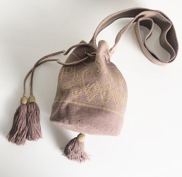 ワユーバッグ (Wayuu bag) Luxe Line Flamingo Sサイズ