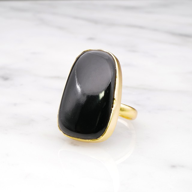 SINGLE BIG STONE RING GOLD 150