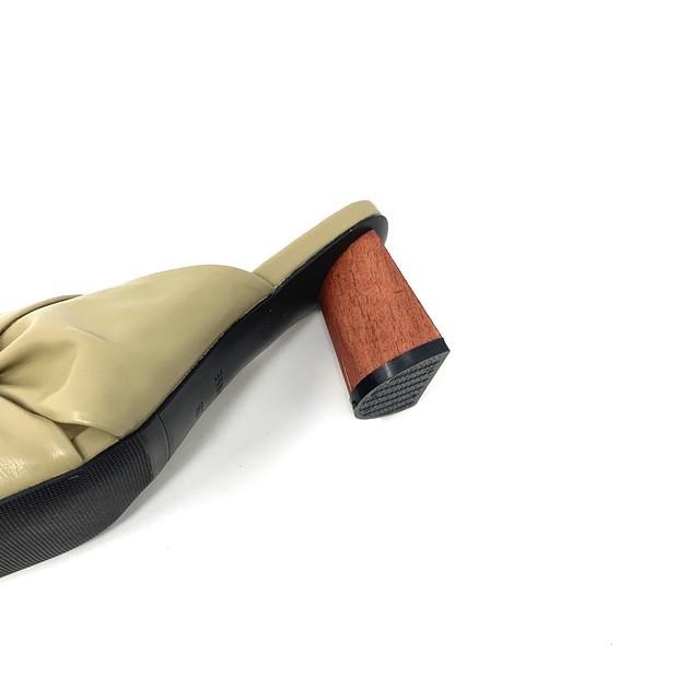 Wood heel Turban sandals | ウッドヒールターバンサンダル|#kr0019