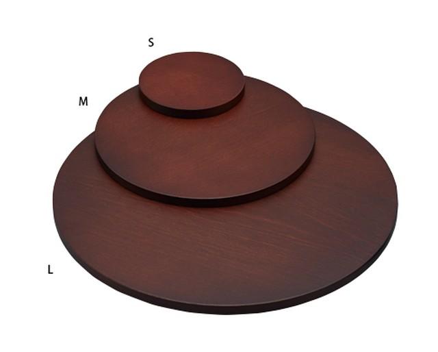 木製ステージLサイズ円形 木目塗装 1648NW-L
