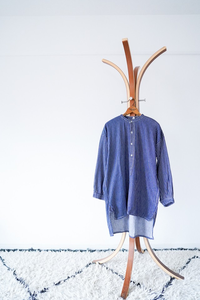 "【1970s】""Germany Fisherman's Pull Over Shirts"" Euro Vintage Shirts / v521"