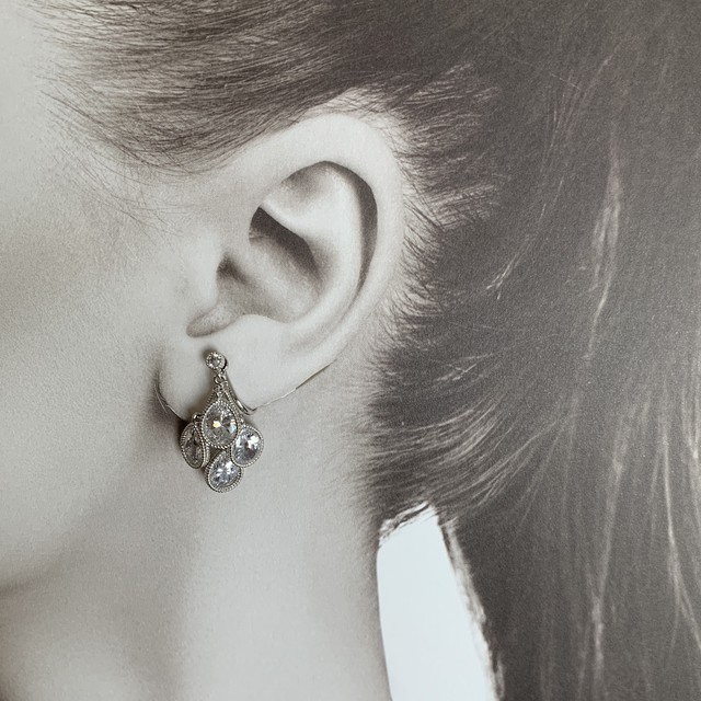 Teardrop earrings |ティアドロップイヤリング|CZ| #SP0140|【STELLAPARK】