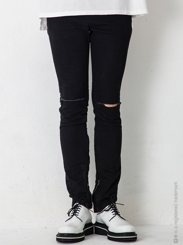 """【AG by EXPERIMENT】ASYMMETRY SKINNY DNM SIDE LINE """"ows"""""""