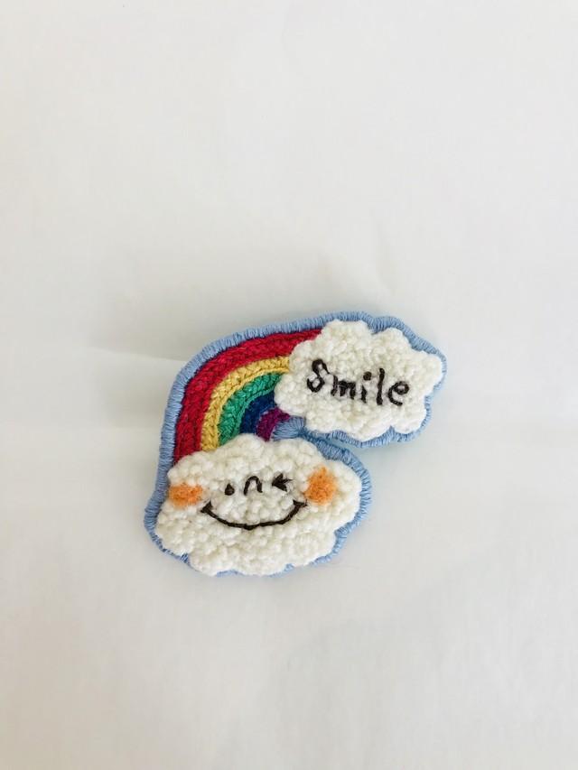 cumocuma くもブローチ 『smile』