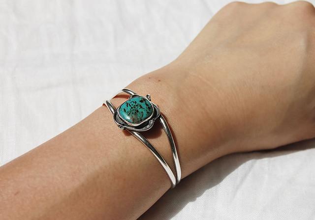 Marble turquoise bangle