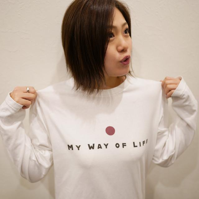 ロングTシャツ(MY WAY OF LIFE)