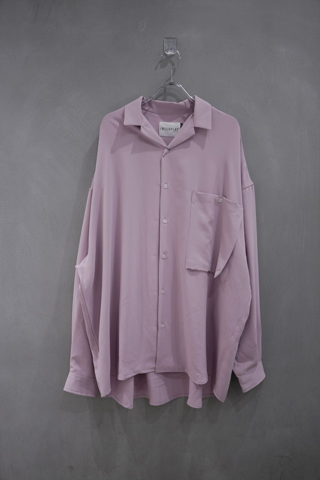 INTERPLAY Open color shirt  purple
