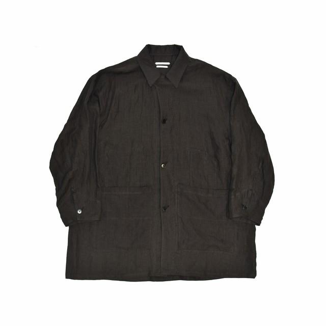 UNDECORATED Herringbone Linen Painter Jacket Sumi Black UDS19504