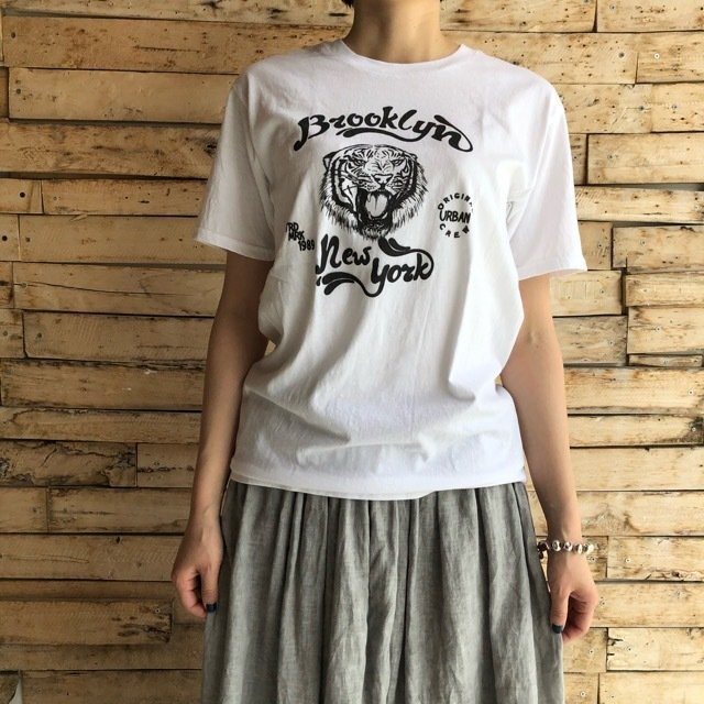 TOPANGA Lady's Brooklyn Tiger Tシャツ ホワイト
