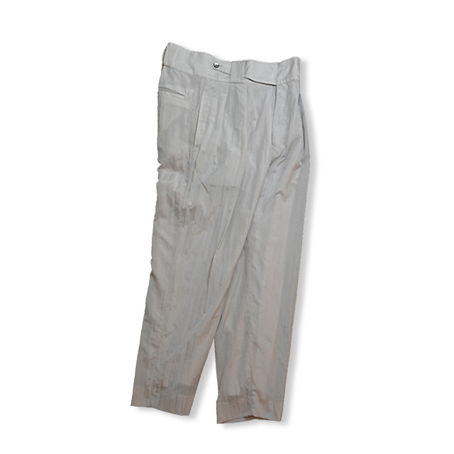 Cropped slacks  [ Pale Gray ]