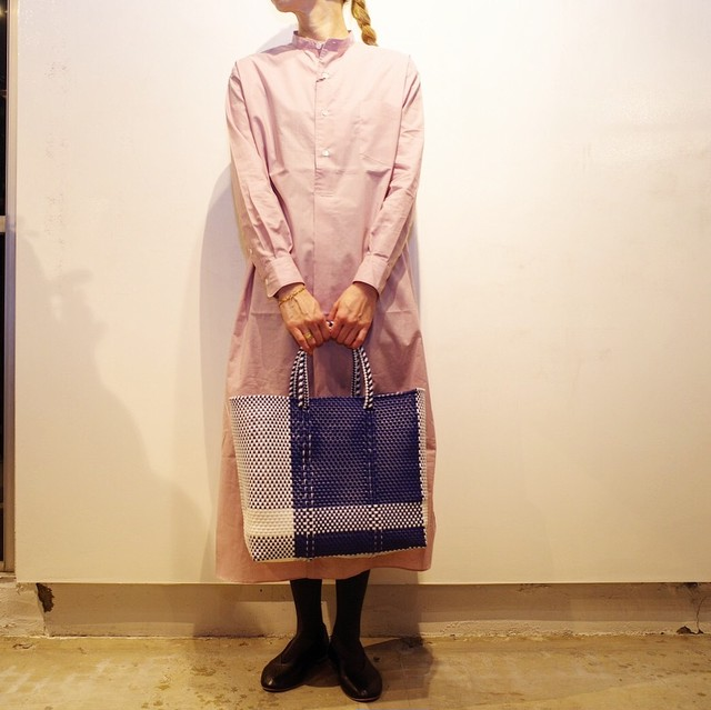 LENO (リノ) BAND COLLAR PULL-OVER DRESS