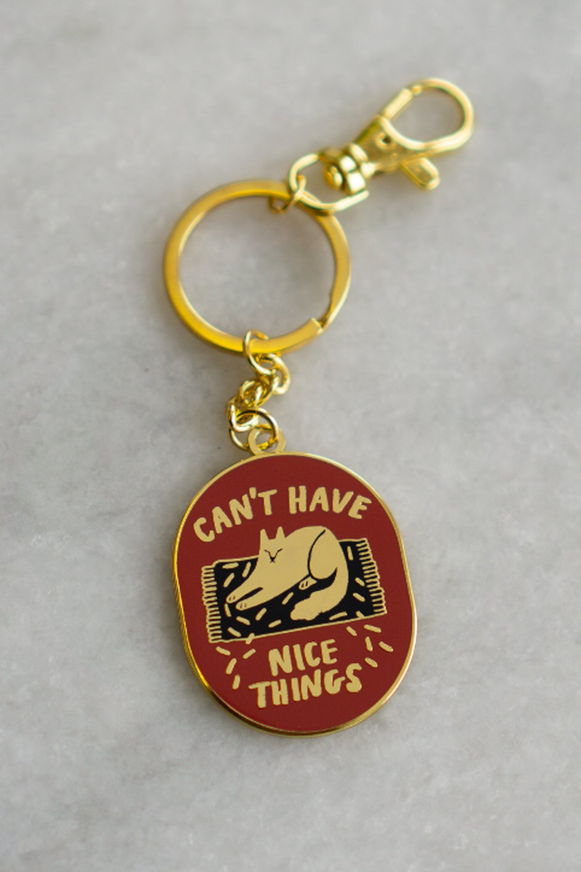 Can't Have Nice Things (Cat) Keychain