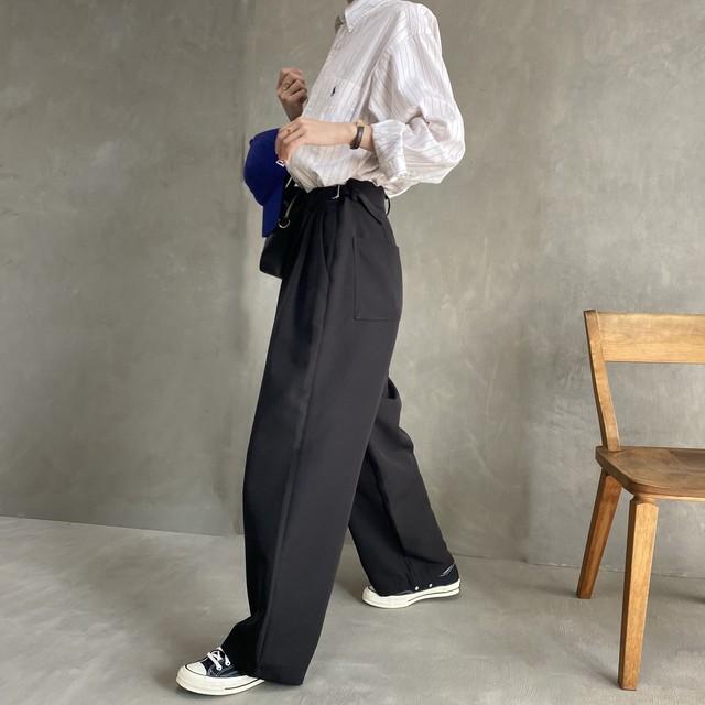 buckle design slacks(3/17na-10)※whiteのみ即納