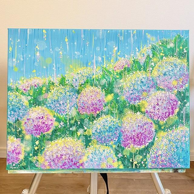 """【一点物】原画 """"雨色の紫陽花"""""""