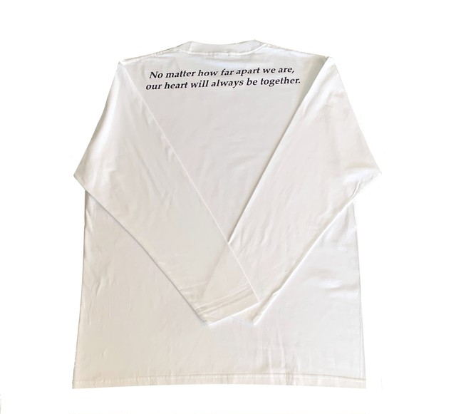 VEVARASANA®︎ バックデザインロングTシャツ WHITE