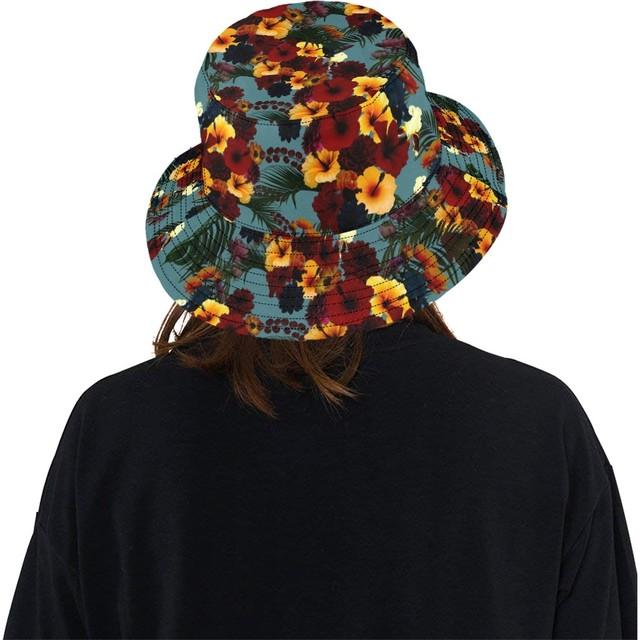 ハイビスカスブルー Bucket Hat バケットハット