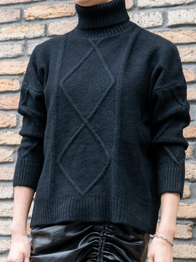 【WOMENS - 1 size】TURTLE OVER KNIT / 2colors
