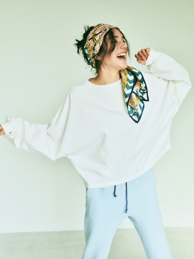 【受注専用】TOMBOY SWEAT SHIRT (white) TNH20200-41