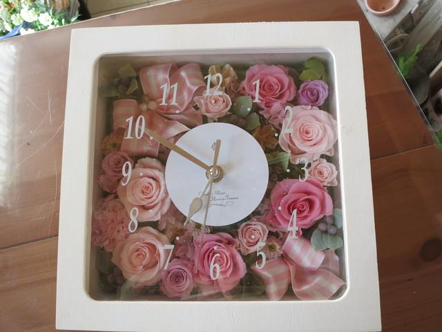 花時計♡ロマンティックなピンクローズ