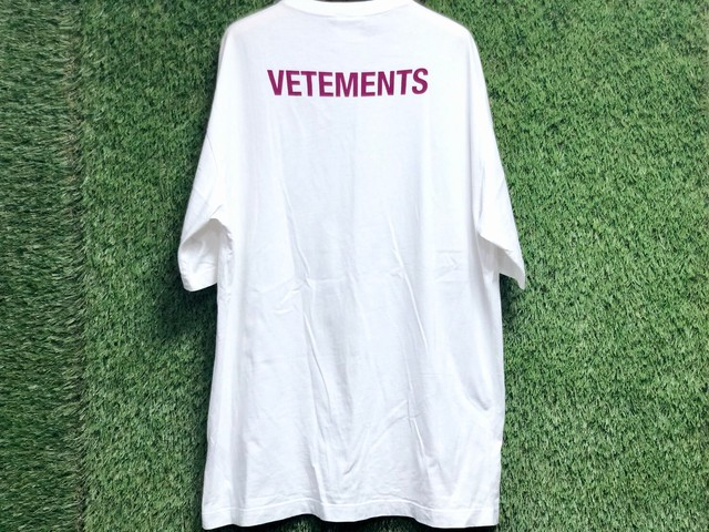 VETEMENTS STAFF BACK LOGO S/S TEE WHITE LARGE 92.5JH7782