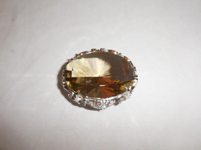 煙水晶の帯留 amok quartz obi sash clip