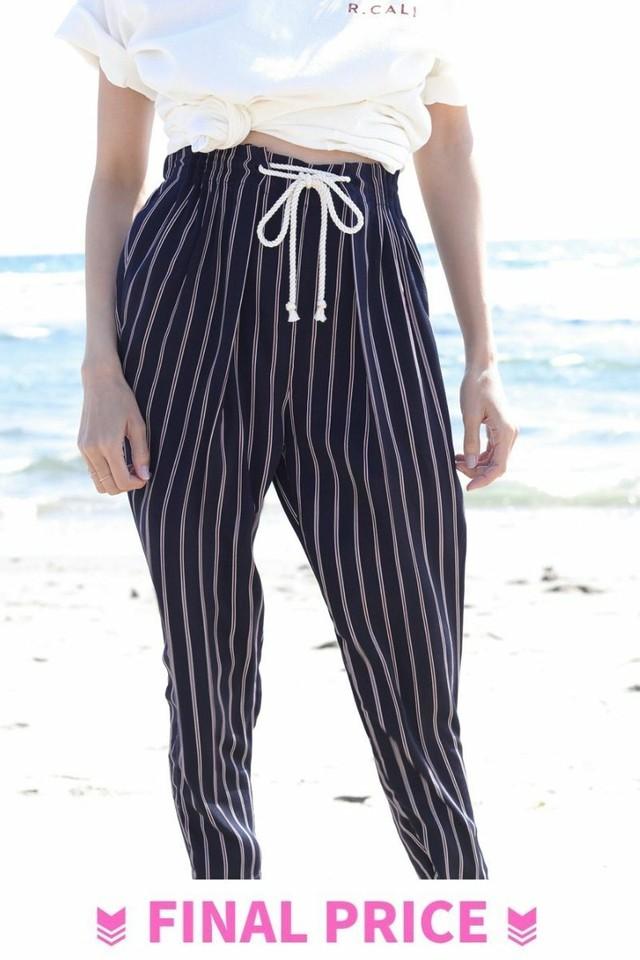 Stripe Pants Navy