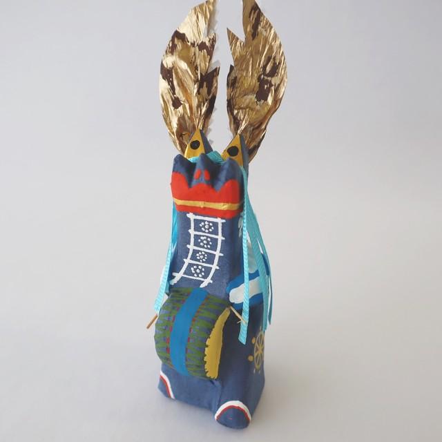 和紙張子「鹿踊(ししおどり)」青
