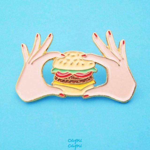 Coucou Suzette Burger Pin