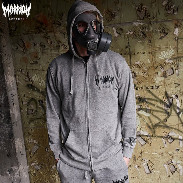 MARRION APPAREL LOGO ZIPPER (heather gray)