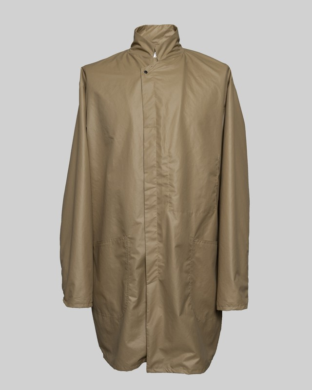T/f polyester taffet work coat - sand