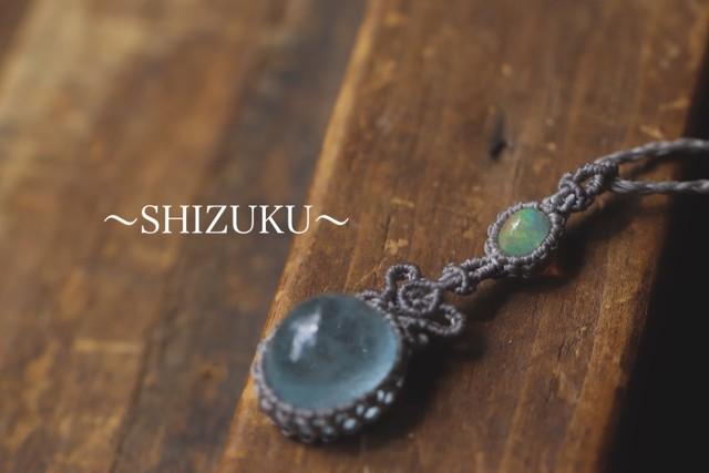 [Precious opal]&[Topaz] Pendant 〜SHIZUKU〜