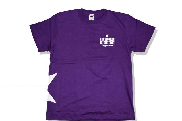 【STAR logo T-shirt】/purple