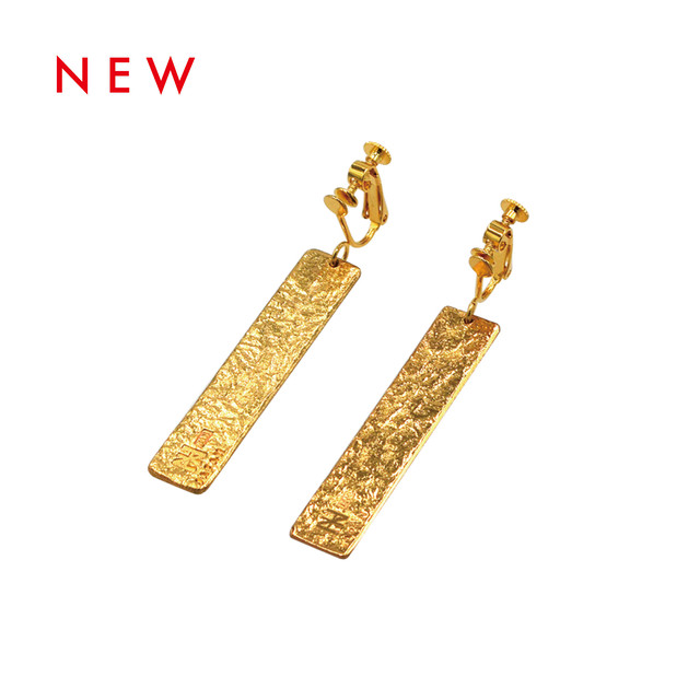 《イヤリング》TIN BREATH Earring H10×50mm Gold
