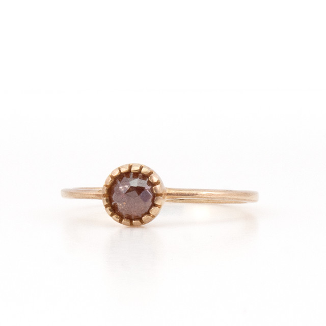 Blooming diamond ring / Brown