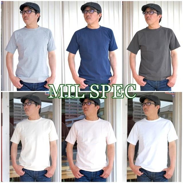 半袖Tシャツ ラグランスリーブ BOSTONNINE ボストンナイン MILSPEC ミルスペック メンズ Tシャツ 5216201 無地T