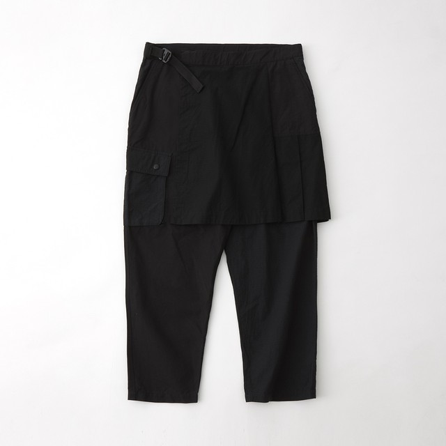 SKIRT CARGO PANTS - BLACK